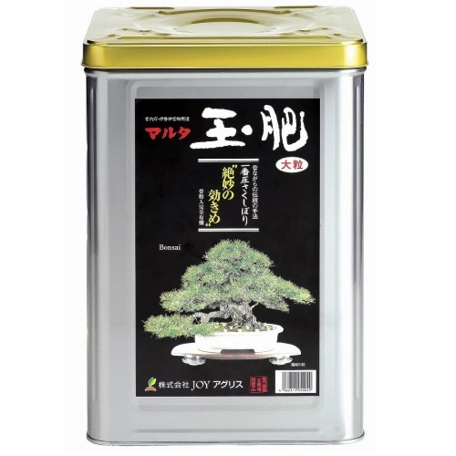 Abono sólido orgánico JOY TAMAHI grueso en lata de 8 kg