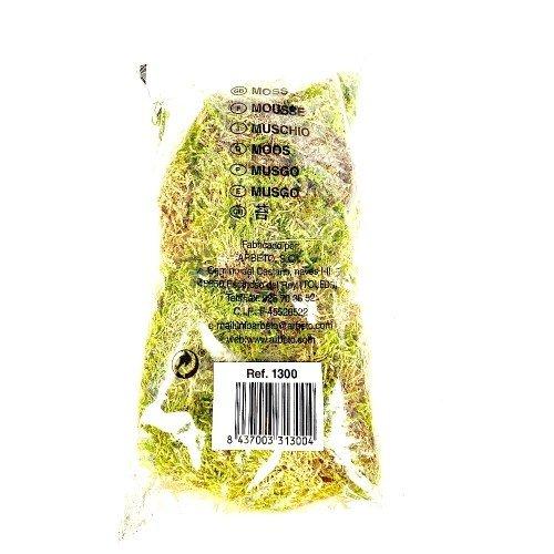 Musgo verde de fibra media en bolsa de plástico