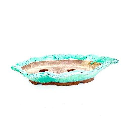 Tiesto YOKKAICHI paisaje color verde esmaltado 26x16.5x5 cm