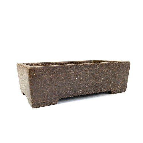 Tiesto YIXING rectangular color marrón satinado 14x9x4,5 cm