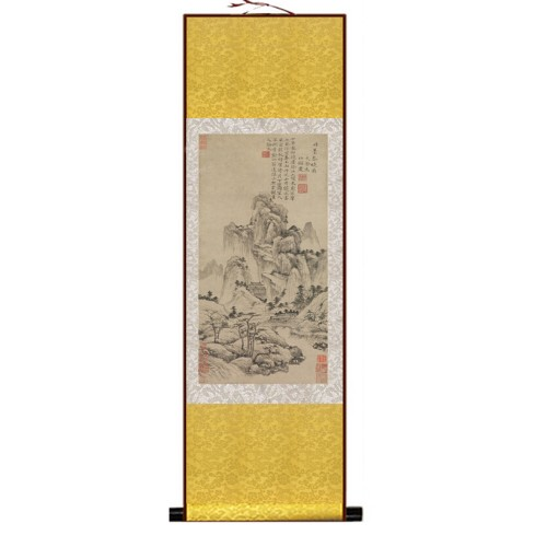 Pintura tradicional china, kakemono medidas 100x30 cm