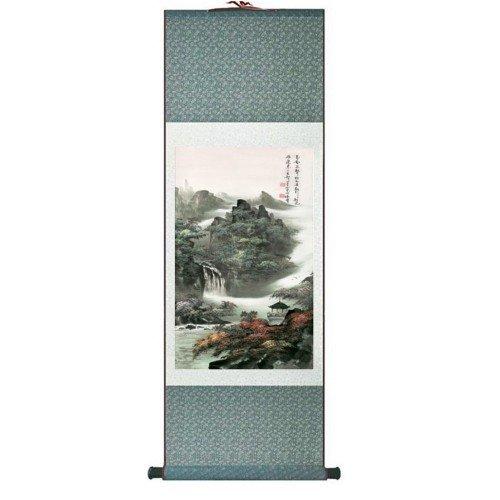 Pintura tradicional china, kakemono detalle cascada medidas...