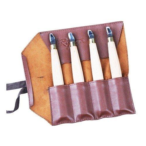 Set de 4 Gubias RYUGA para trabajar la madera con estuche de...