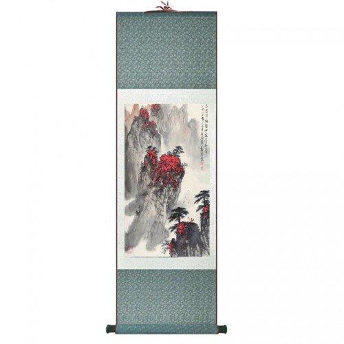 Pintura tradicional china, kakemono detalle paisaje medidas...