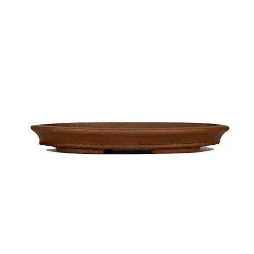 Tiesto YIXING ovalado marrón sin esmaltar 27,5x15x3 cm