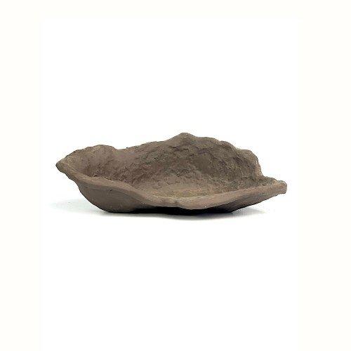 Tiesto kusamono japonés marrón KURAMA 22,5x13,5x8 cm